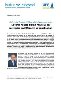 Étude sur le fait religieux en entreprise