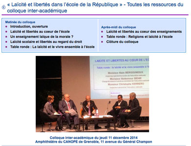 Ressoucres colloque inter académie