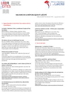Bibliographie Valeurs de la république et laïcité - Labo Cités - septembre 2018