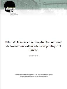 Bilan plan de formation Valeurs de la république et laïcité - février 2019